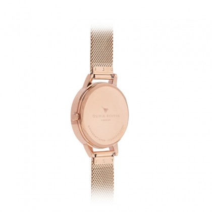 Abstract Florals Rose Gold Mesh 30mm Women's Watch | OB16VM11