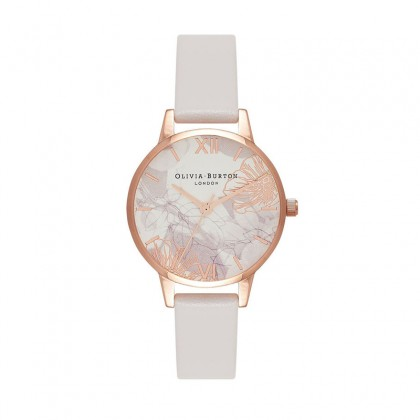 Abstract Florals Blush & Rose Gold 30mm Women's Watch | OB16VM12