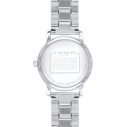 Coach Grand 28mm Crystal Silver Dial Stainless Steel Ladies Watch 14503001