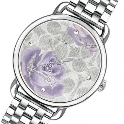 Coach Delancey 33mm Signature C Dial Stainless Steel Ladies Watch 14503163