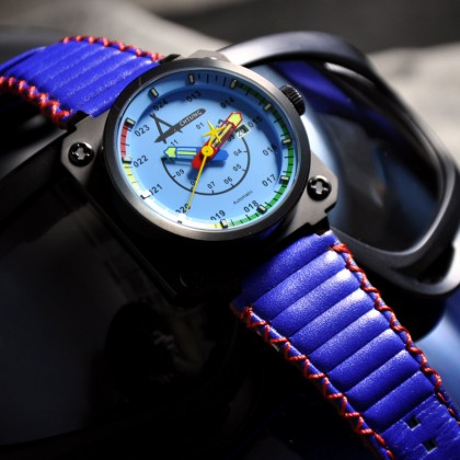 ACHTUNG AVIATORĒ B.BLUE Automatic 48mm Limited Edition Square Watch | ATG-AVI/B.BLUE