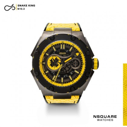 NSQUARE SnakeKing Automatic Watch 46mm 10.3 Gun/Yellow/Gun Bracelet